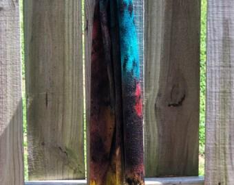 Cosmic Gas 10 OOAK - silver stellina merino sparkle knitted flat blank splotch yellow red blue aqua black grunge sock cosmos galaxy space