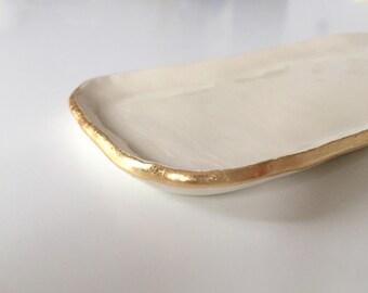 Gold Lip Mini Tray