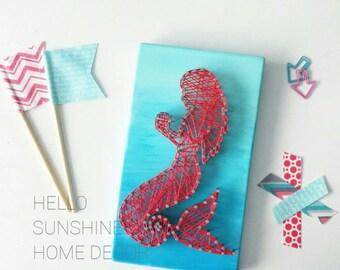FREE SHIPPING Mermaid String Art