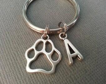 Paw Keychain / Cat Keychain / Dog Keychain / Personalized Dog Paw Print Keychain / Cat Paw Print Keychain
