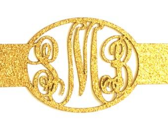 Laser Cut Wedding Invitation Belly Band, Gold, Silver, Glitter, or Custom Color