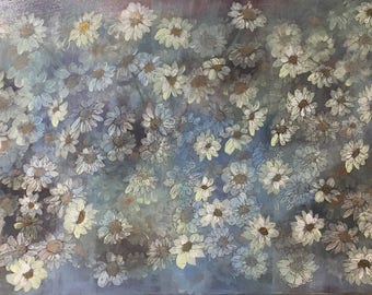 Original Art Floral Acrylic Painting by Ontario Artist Judy M. Roth