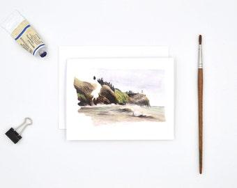 Washington State Art Card - Watercolor Notecard - Washington Gift - West Coast Art - Blank Notecards - Washington Watercolor - Seattle Art