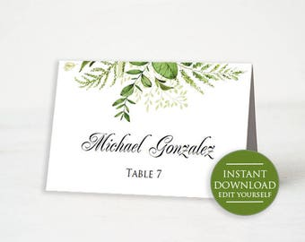Wedding Place Card Printable Place Card Template Meal Choice - Reserved place card template