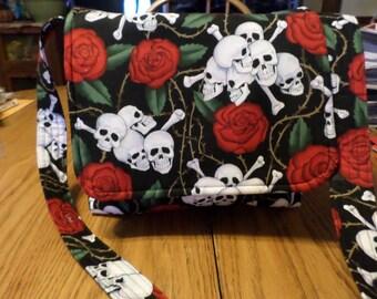 Cute Skulls Messenger Handbag Purse