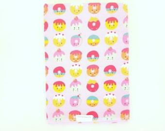 Pink Donuts Swaddle Blanket / Baby Shower Gift / Baby Girl Gift / Newborn Swaddle Blanket / Pink Donuts Receiving Blanket