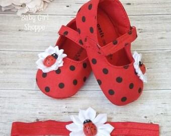 Ladybug Birthday Outfit - Ladybug First Birthday Outfit - Ladybug Shoes - First Birthday Ladybug Outfit - Ladybug Birthday Shirt
