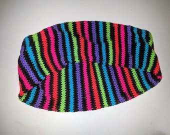 Neon stripes scarf