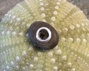 Beach stone jewelry- beach stone bead