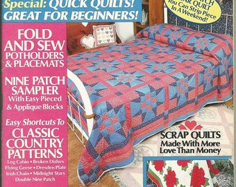 "Vintage ""Old Fashioned Patchwork"" Magazine"