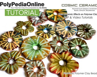 Polymer Clay Tutorial, Polymer Clay Beads, Polymer Clay Jewelry, Earring Tutorial, PDF Tutorial, Jewelry Tutorial, Polymer Ceramic, Video