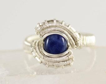 Sodalite Sterling Silver Ring