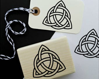 Triquetra Celtic Symbol Rubber Stamp, Decovative Spiritual Stamp  -1741310118-