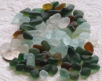 112 Natural Sea Glass Small Mosaic and Craft Supplies (1285)