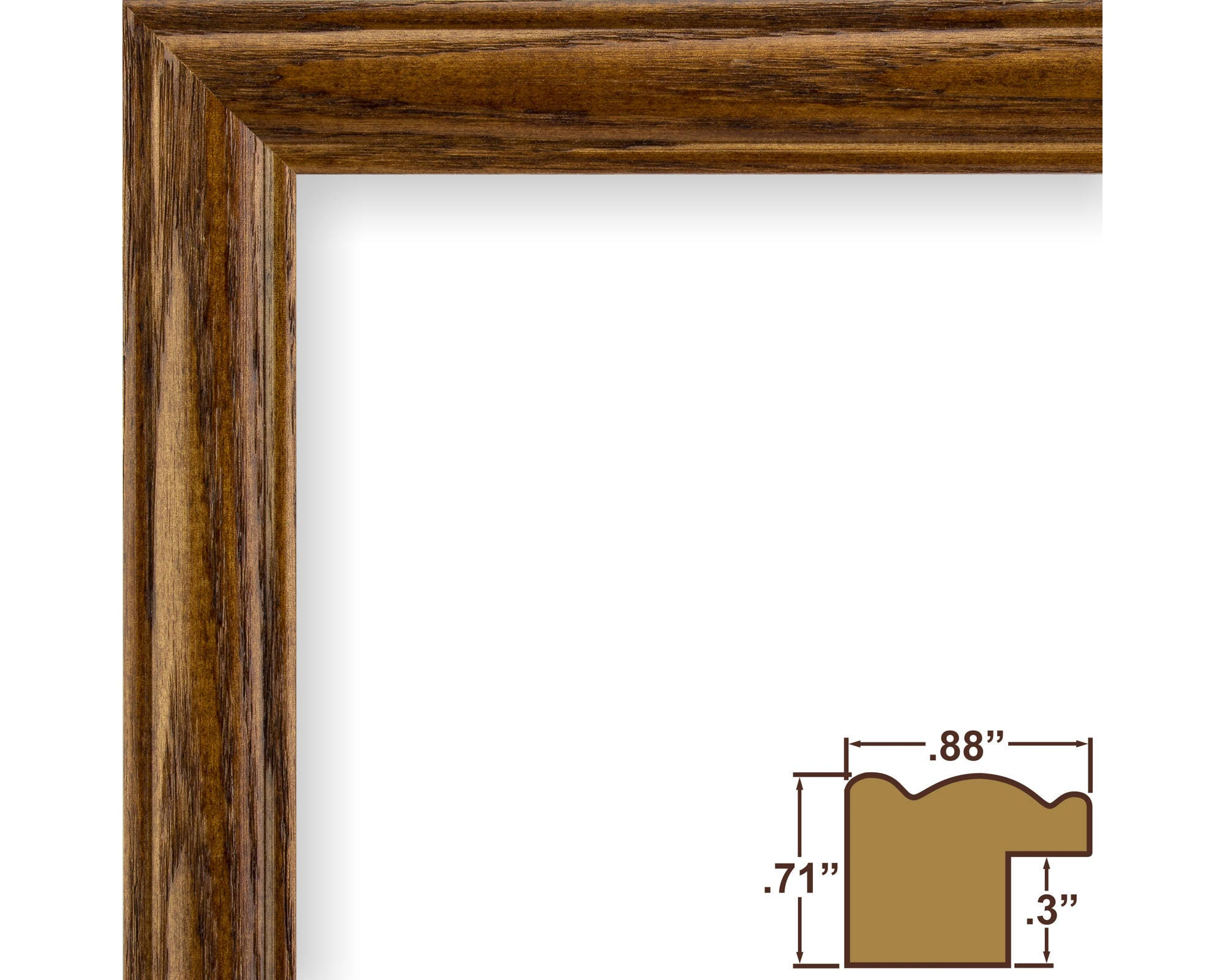 Craig frames 19x25 inch brown ash picture frame wiltshire zoom jeuxipadfo Image collections