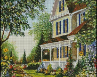VICTORIAN HOUSE cross stitch pattern No.741