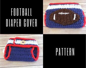 Football Diaper Cover Crochet Pattern 0-6 month size, PDF Crochet Pattern,