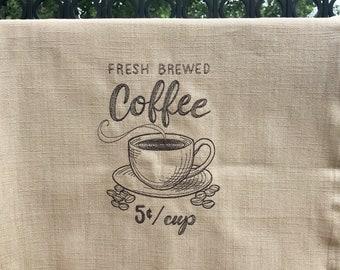 Kitchen Towel - Fresh Brewed Coffee