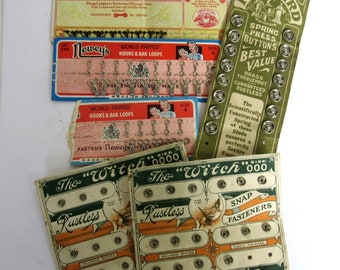 1940s to 1960s Vintage Fasteners Collection