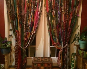 Boho curtains!custom 80 inches wide by 84 long