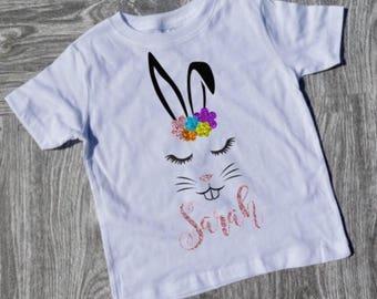 Easter Bunny Shirt / Kids Easter Shirt / Personalized Shirt / Bunny Shirt / Rabbit Shirt / Cute Easter Shirt