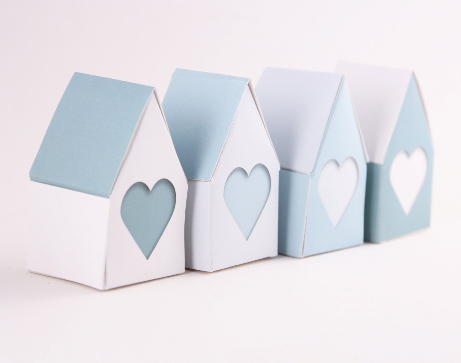 Little Houses Big Hearts Wedding Favor Gift Boxes Baby