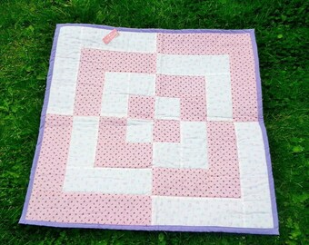 Handmade quilt, baby quilt, crib quilt or comfort quilt for toddler