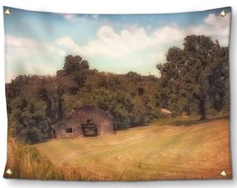 Rustic Wall Decor-Rustic Tapestry-Barn Tapestry-Landscape Tapestry-Canvas Tapestry-Country Wall Decor-Rustic Wall Hanging-Outdoor Tapestry