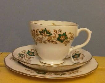 Vintage tea cup pure beeswax candle