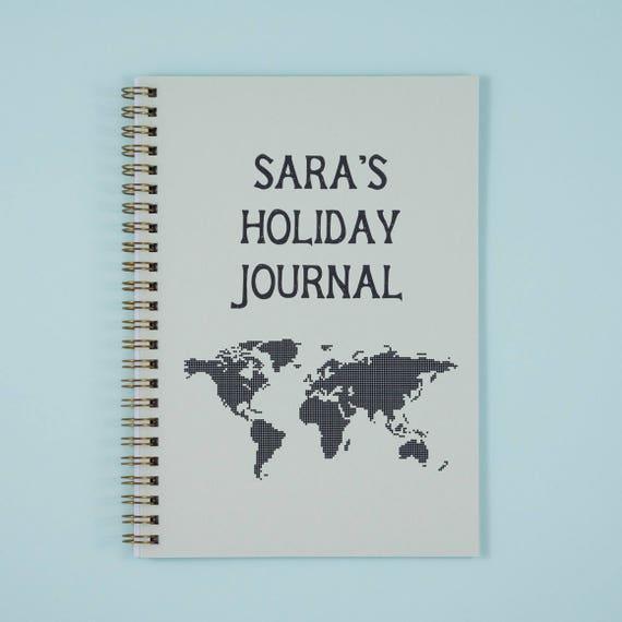 Personalised travel journal world map custom holiday gumiabroncs Images