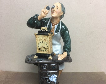 """Royal Doulton Figurine The Clockmaker HN2279 7"""" Tall - Made in England - FREE SHIPPING"""