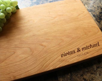 Personalized Cutting Board, Custom Cutting Board, Engraved Cutting Board, Wedding Gift, Gift for Couple, Engagement Gift. 922