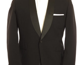 Size ~40R - 1950's vintage Lord West one button shawl collar dinner jacket/tuxedo coat