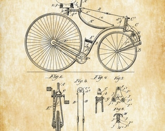 Schwinn bicycle patent vintage bicycle bicycle blueprint velocipede patent 1889 bicycle decor vintage bicycle bicycle blueprint bicycle art malvernweather Images