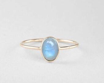 Rainbow moonstone ring, 925 Sterling silver ring, Handmade ring, Moonstone ring