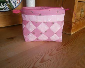 Pink, retro, multi-purpose patchwork handmade