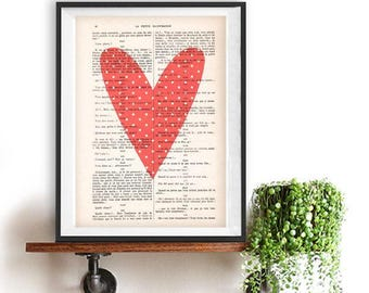 Heart print, Love Print, Valentines Print, Love print, love artwork, art of love gift for her, hearts, anatomy love