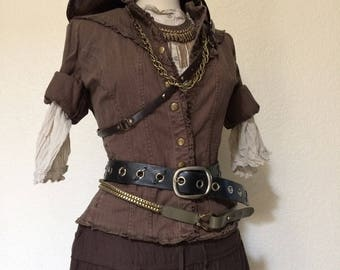 Large Deluxe Pirate Captain Costume - Adult Women's Pirate Costume