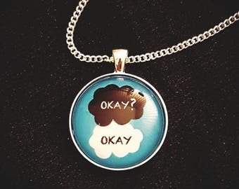 The Fault in our Stars -inspired Necklace | Glass Pendant | Okay? Okay.