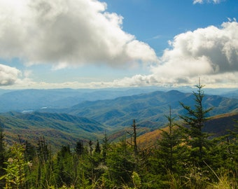 Mountain Photo - Digital Download - Color Photo - Mountain Photography - Smoky Mountain Art - Cabin Decor - Stock Photo - Rustic Decor