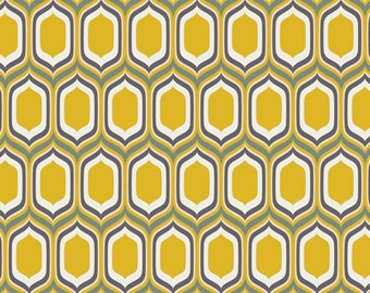 Urban Mod - UR-80015 - Stenciled Retro Gold - Art Gallery Fabrics 100% Quilters Cotton