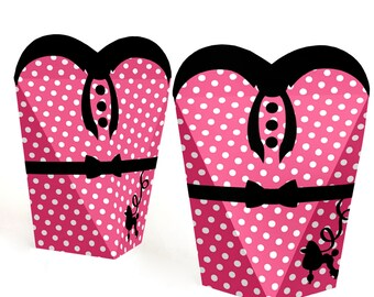 50's Sock Hop - 1950s Rock N Roll Party Favors - Fifties Party Gift Favor Boxes for Women - Shake, Rattle & Roll Party Favor Box - 12 Ct.