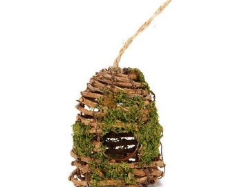 Grapevine Beehive Ornament, Bee Skep, Bee Decor, Beehive Centerpiece