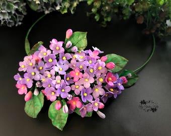 Lilac Necklace, White Lilac, White Lilac Necklace, Purple Lilac Necklace, Floral Necklace, White Necklace, Purple Flowers Necklace