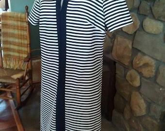 Nautical Striped Honeycomb Dress