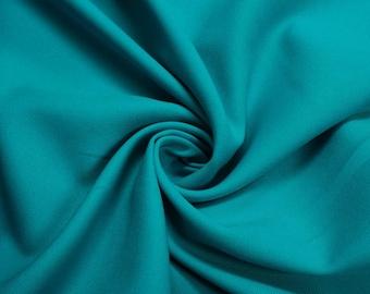 Teal Soild  60'' Poly Gabardine Fabric by the Yard - Style 3054