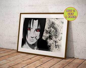 Uchiha Itachi, Naruto, Anime, Naruto Poster, Naruto Gifts, Naruto Shippuden, Anime Poster, Anime Prints, Sharingan, Rinnegan, OC-357