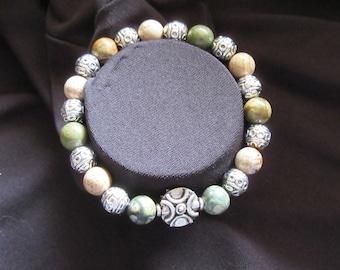 Genuine Jasper Earth Tones Bracelet