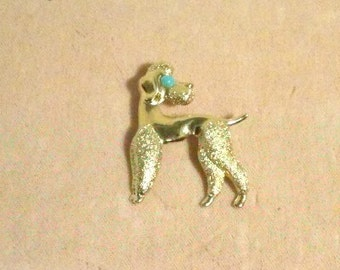 Adorable Vintage Poodle Pin