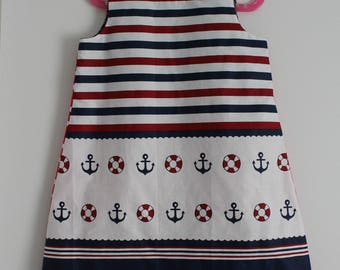 "Pretty little dress ""Sailor"" T 8/9 years"